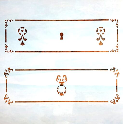 Șablon – model sertar – 6243 – 30×30 cm 1