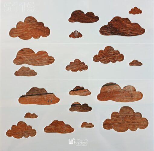 Șablon – nori norișori – 50x50 cm 1