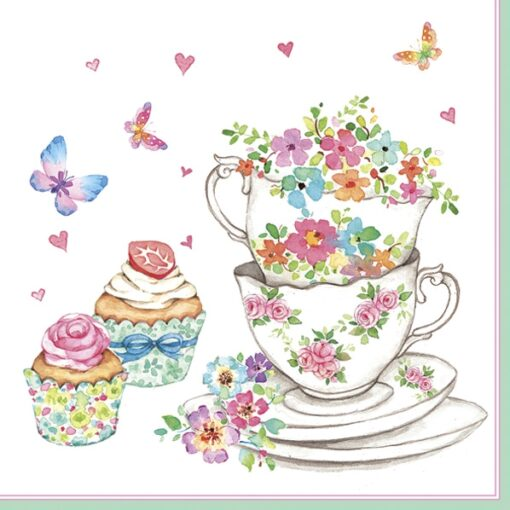 Șervețel - Cups and Cupcakes - 33x33cm 1