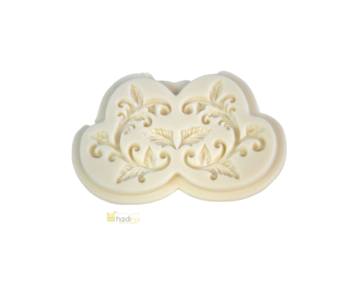 Formă silicon - leaf ornament - 9,5x6 cm 1