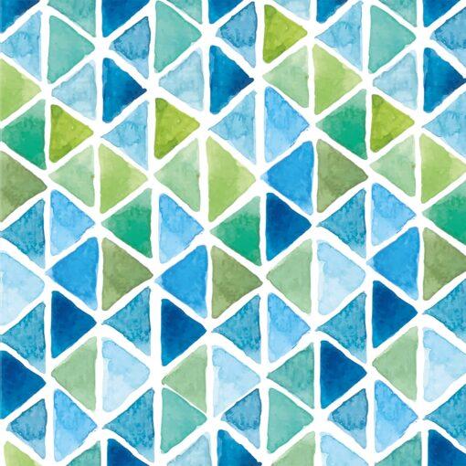 Șervețel - Aquarell Triangle Aqua - 33x33 cm 1