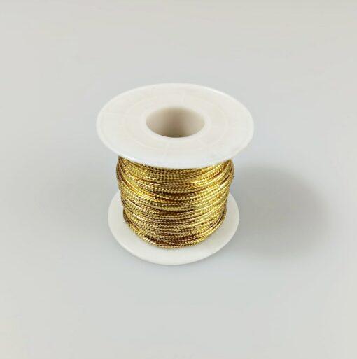 Șnur cu lurex auriu – diametru 2mm 1