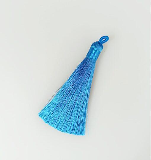 Canaf albastru din fir de mătase- lungime 8 cm 1