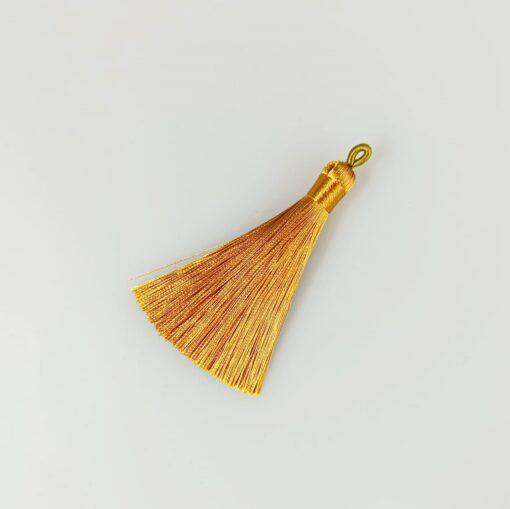 Canaf auriu din fir de mătase- lungime 8 cm 1