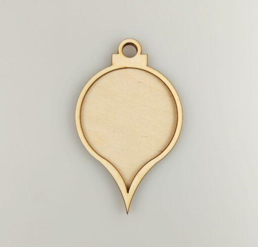 Decorațiune - medalion formă picătură - 2 elemente 1