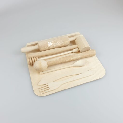 Mini set din lemn - bucătărie - pentru copii 3
