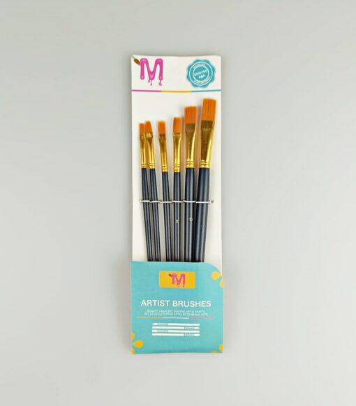 Set 6 pensule sintetice late - diferite mărimi 1