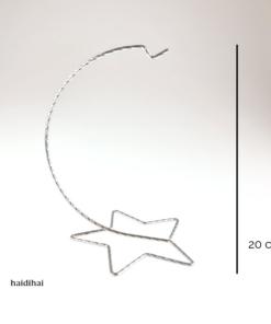 Suport metalic - argintiu cromat – 20 cm – stea