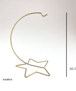 Suport metalic - auriu – 20 cm – stea