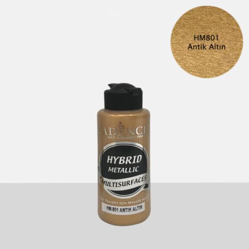 Vopsea acrilică hybrid metallic – antique gold – CADENCE – 90 ml 1