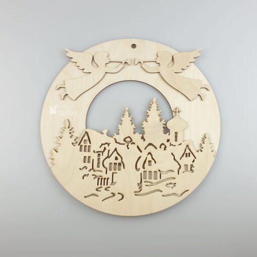 Decorațiune Crăciun - coroniță - 30 cm 1