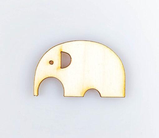 Decoratiune lemn - elefant - 5x3 cm 1