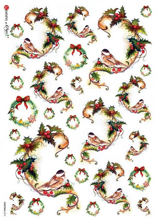 Hârtie de orez – Birds – A4 3