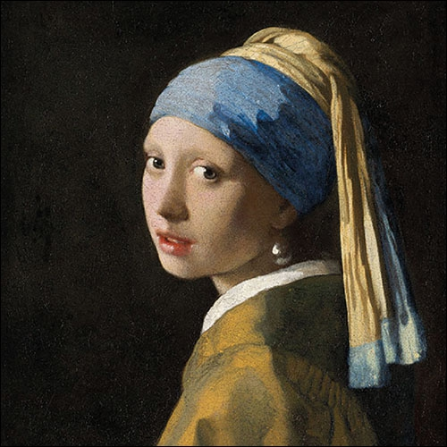 Șervețel - Girl with The Pearl Earring - 33x33 cm 1
