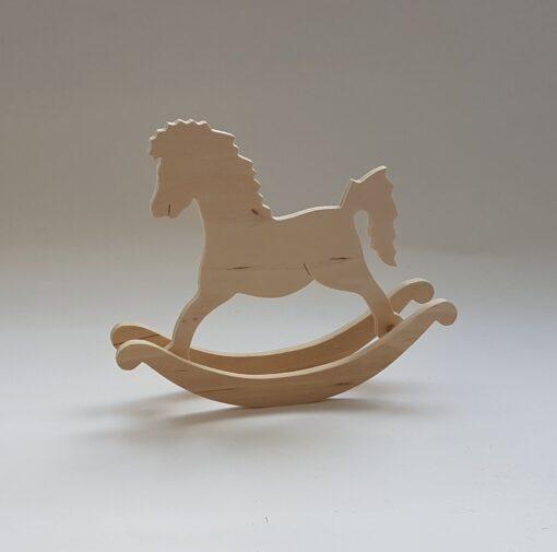 Rocking horse – căluț din lemn pentru decorat – mare 1