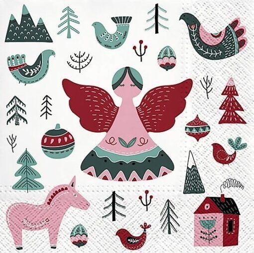 Șervețel - Scandinavian Christmas - 33x33 cm 1