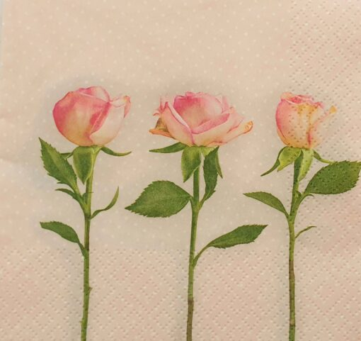 Șervețel  - Three Roses - 33x33 cm 1