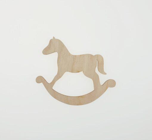 Decoratiune - rocking horse - 9x6.7 cm 1
