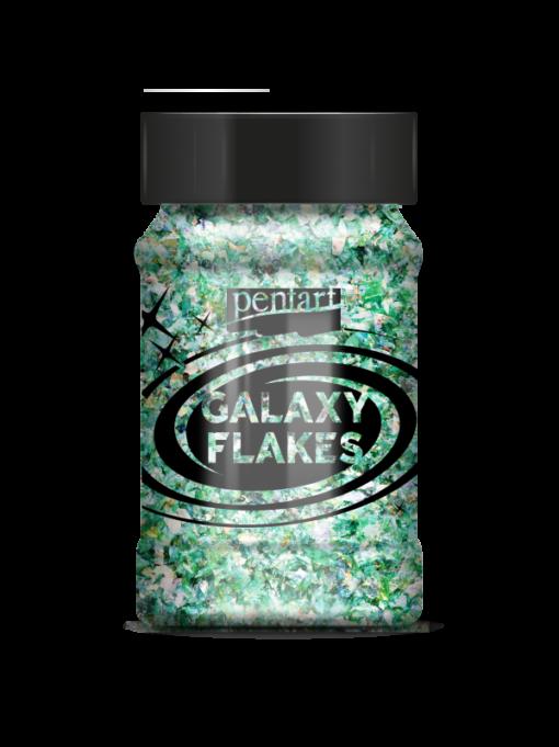 Galaxy flakes – Earth green – 15 gr. – Pentart 1