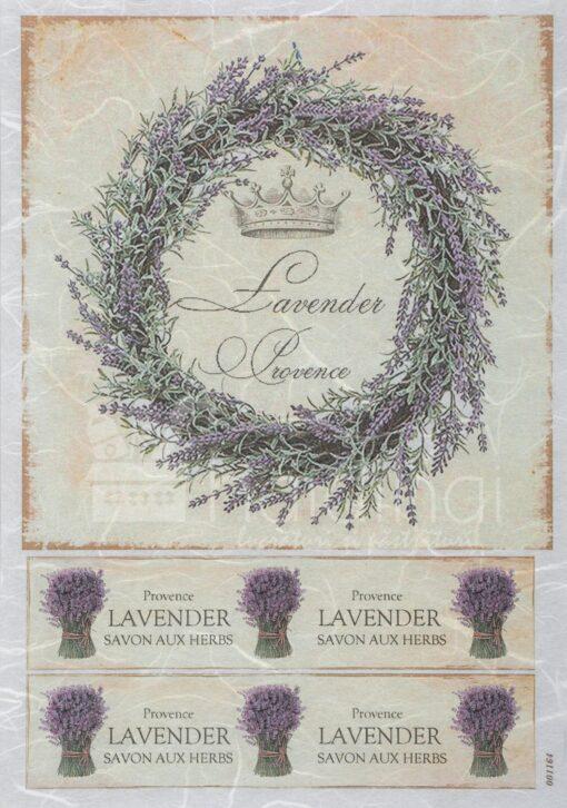 Hârtie de orez – Lavander Provence – A4 1