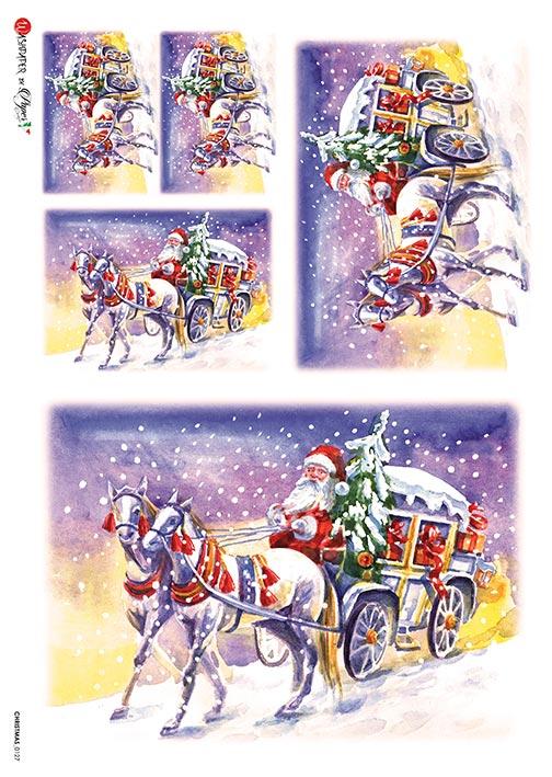 Hârtie de orez –Santa's Trip 2 – A4 1