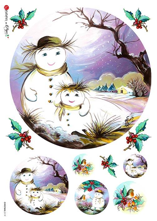 Hârtie de orez –Snowman 3 – A4 1