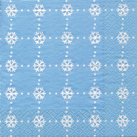 Șervețel –Cristaux de Glace iceblue – 33×33 cm 1