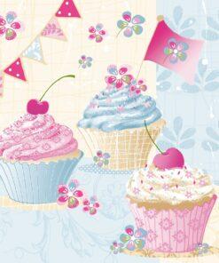 Șervețel - Birthday Cup Cakes - 33x33 cm