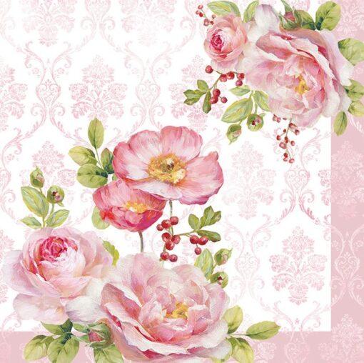 Șervețel - Floral Damask - 33x33 cm 1