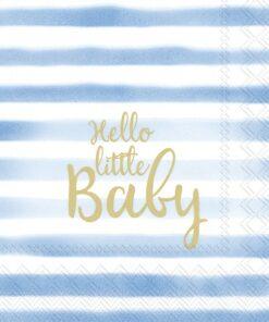 Șervețel - Hello Little Baby - blue - 25x25 cm