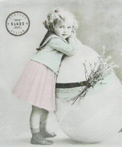 Șervețel - Easter girl - 33x33 cm