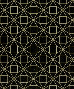 Șervețel - Square pattern - black - 33x33 cm