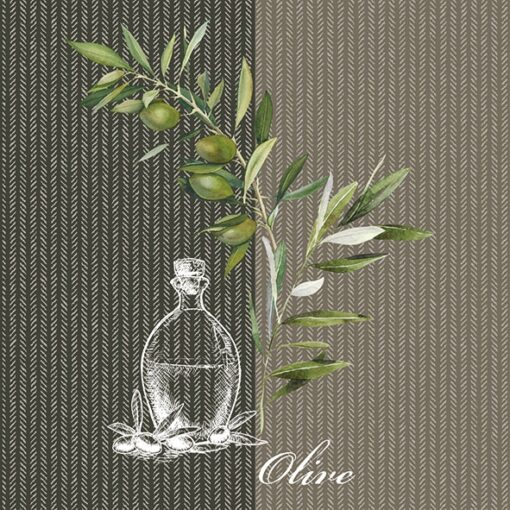 Șervețel decoupage- Oil and Olives - 33x33cm 1
