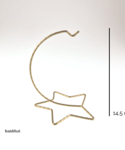 Suport metalic auriu – 14,5 cm – stea