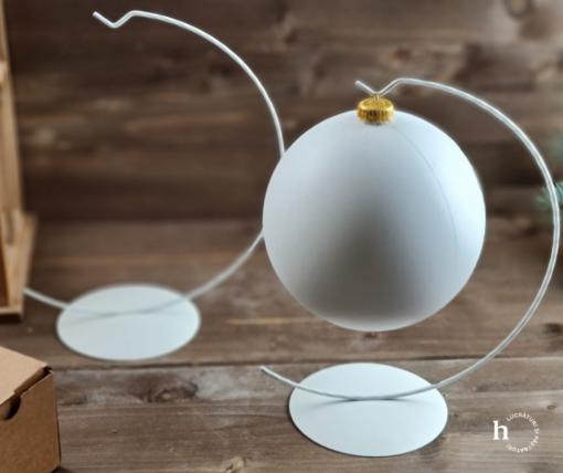 Suport metalic decorativ alb – h 26 cm glob 1