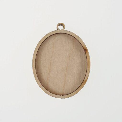 Baza martisor oval - lemn - 2 in 1- 4 cm 1