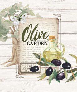 Șervețel - Olive Garden - 25x25 cm