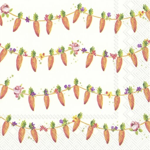 Șervețel decorativ – Carrots Garland – 33×33 cm 1
