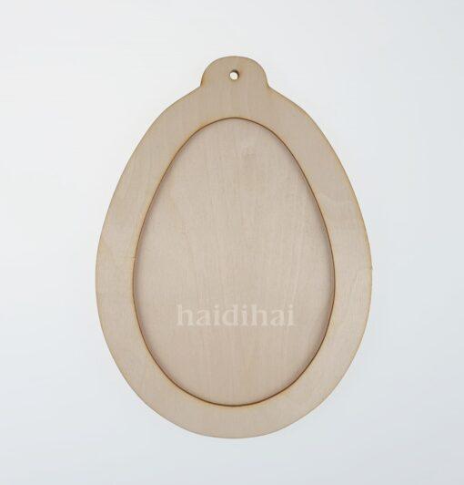 Decorațiune lemn - ou - 2 elemente - 22x16 cm 1