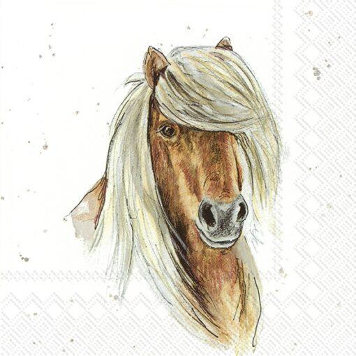 Șervețel decoupage - Farmfriends Horse - 33x33 cm 1
