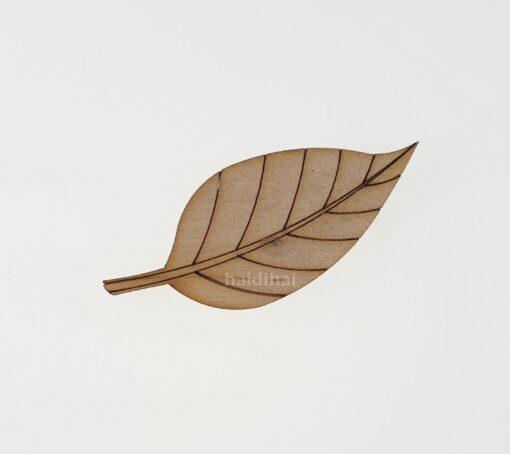 Decorațiune lemn - frunză - 6 cm 1