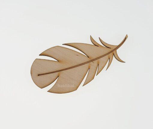 Decorațiune lemn - pană - 10 cm 1