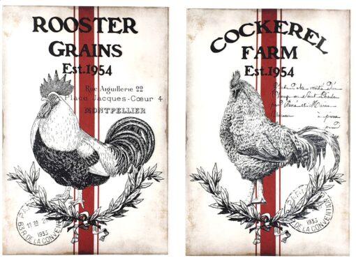 Hârtie decoupage - Set farm 21 - A4 1