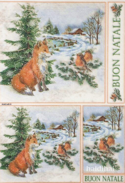 Hârtie de orez - Buon Natale - A4 1