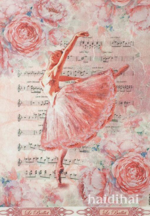 Hârtie de orez - Le Ballet - A4 1