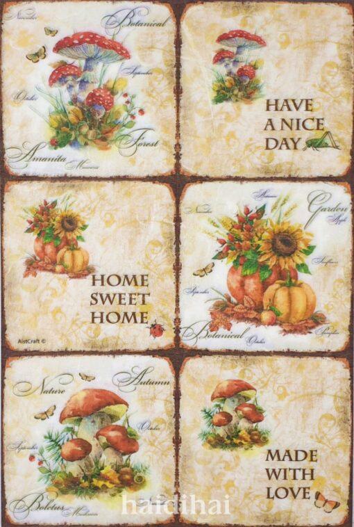 Hârtie de orez - Sweet Home - A4 1