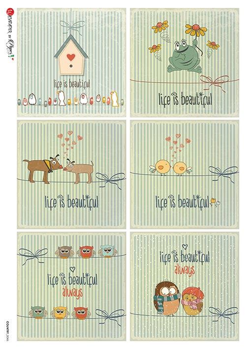 Hârtie de orez – Life is beautiful – A4 1