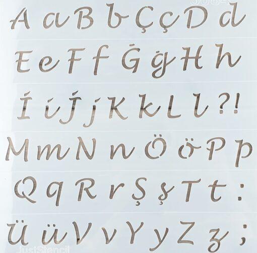 Șablon – Letters – 30x30 cm 1