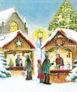 Servetel-Christmas-Market-33x33-cm