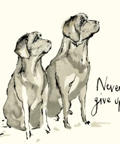 Șervețel - Never give up - 33x33 cm